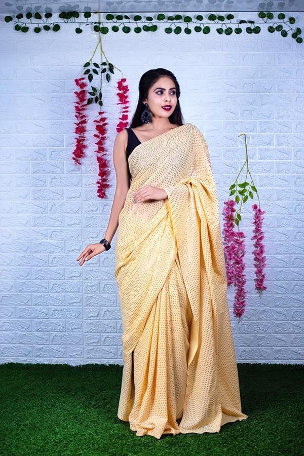 Modern farewell sarees design 2021-2022