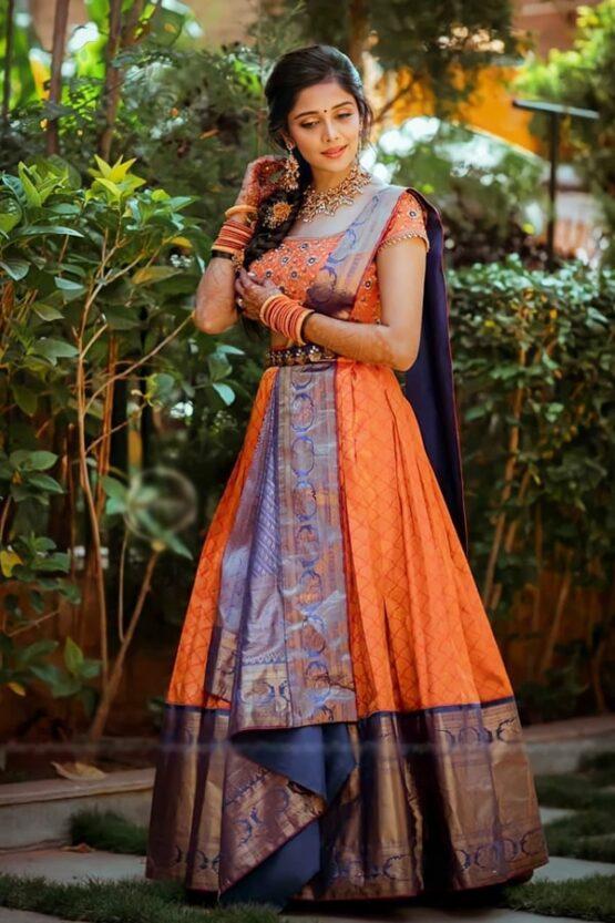 New model Pattu half saree