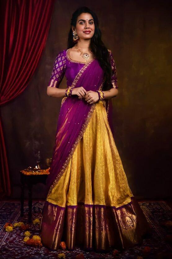 New model Pattu half sarees 2021