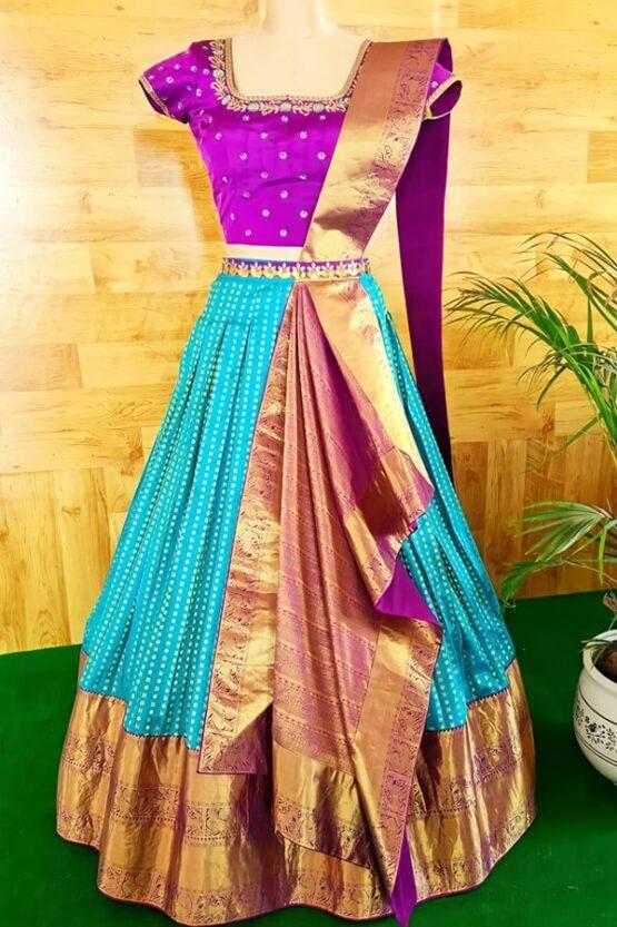 New model pattu half sarees.