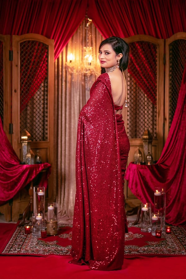 New saree design 2022 Party wear Latest (2)