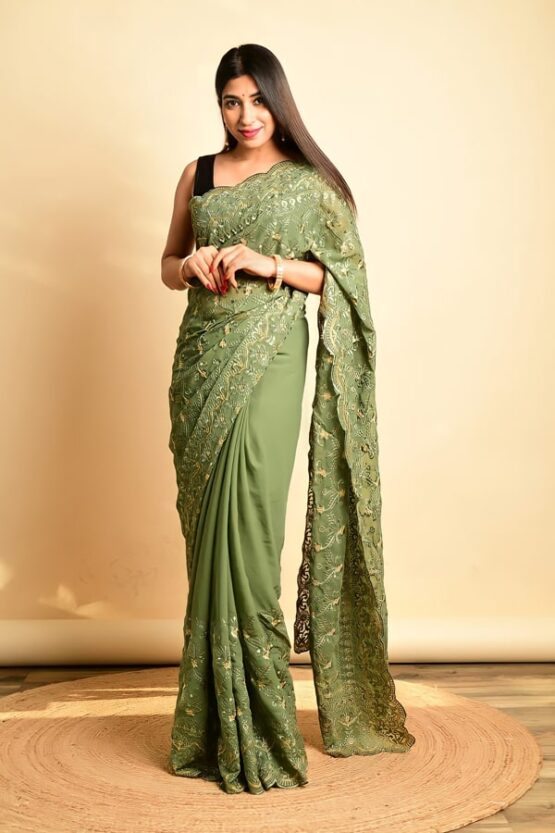 Party wear saree for unmarried girl 2022-2021