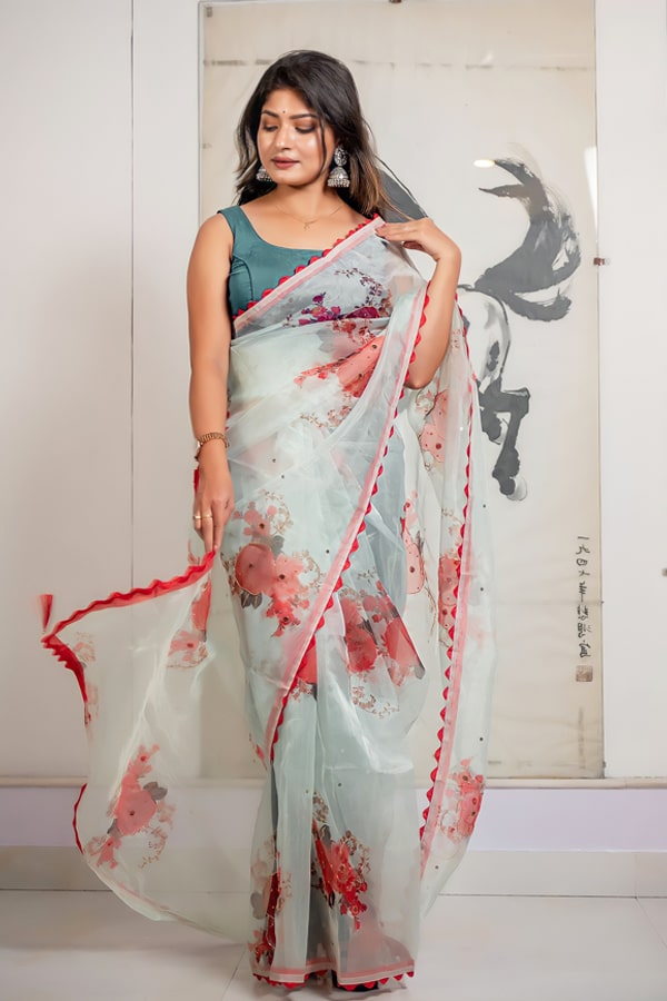Party wear saree new design 2022 for girls