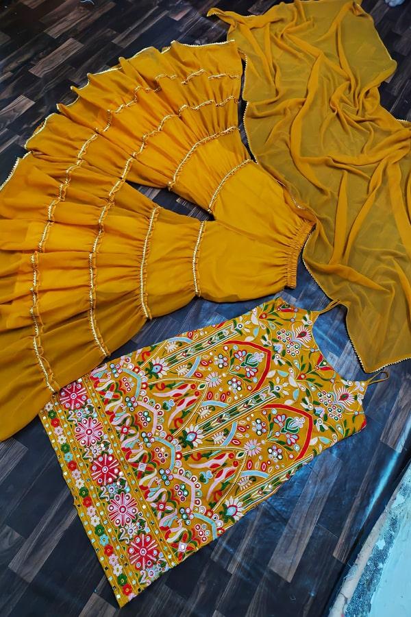 Punjabi Sharara dress for wedding with Price..