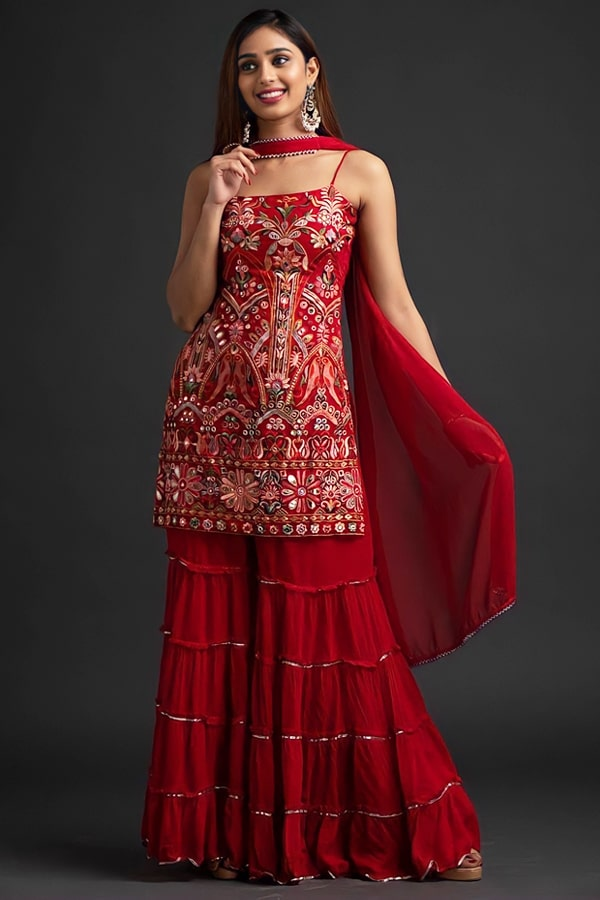 Punjabi Sharara dress for wedding with Price