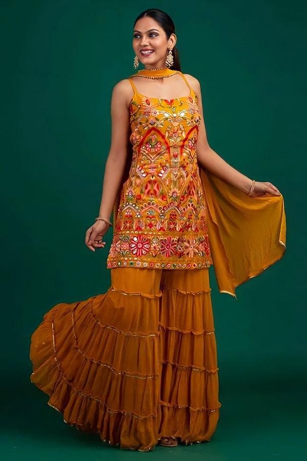 Punjabi Sharara dress for wedding