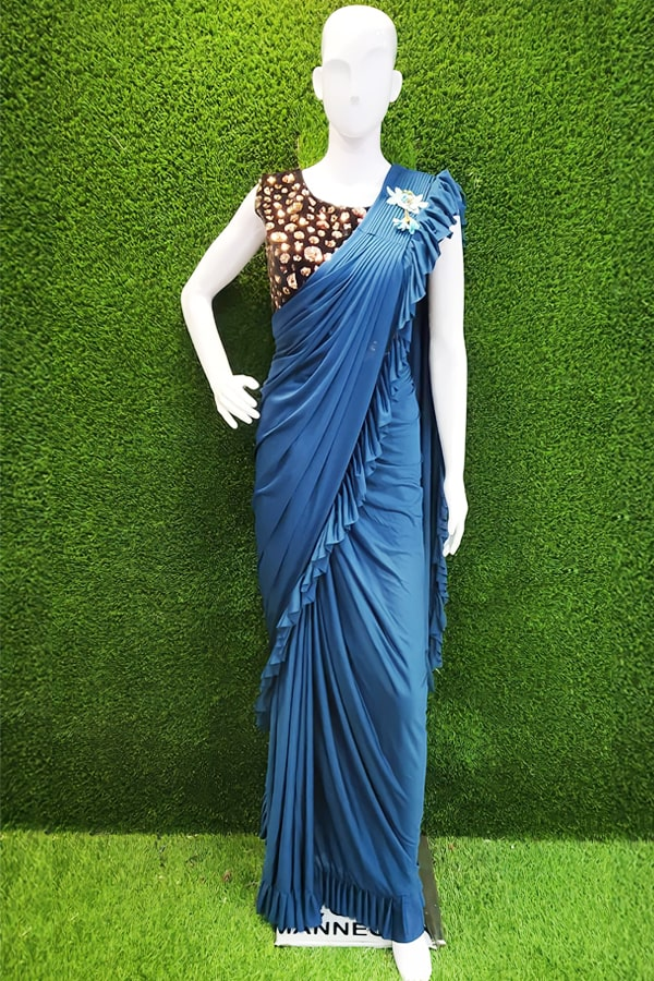 Ready to wear saree online Partywear blue