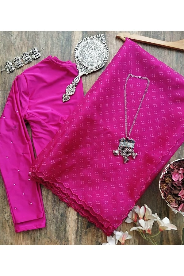 Saree for wedding Guest pink