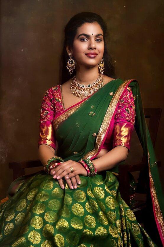 Traditional Half Saree with Price