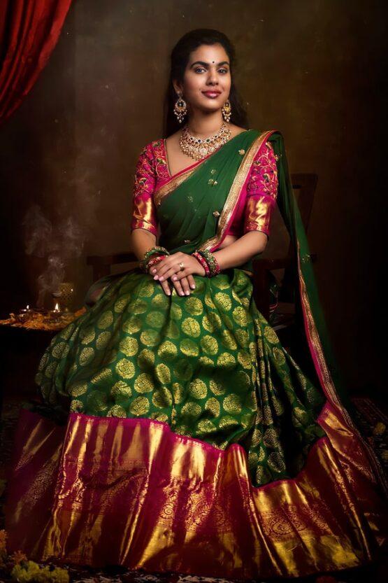 Traditional Half Saree with Price Pattu