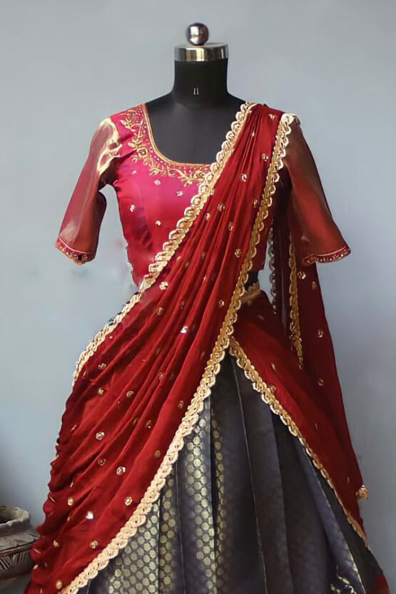 Traditional half saree online with Price