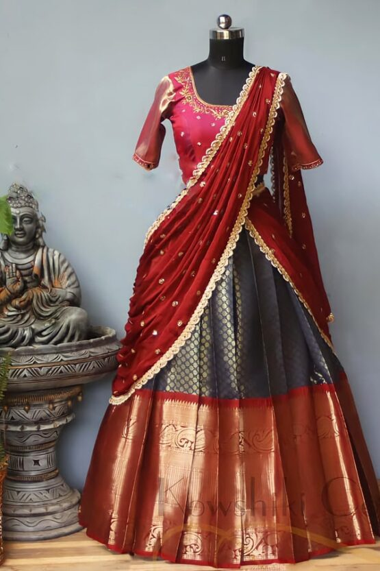 Traditional half saree online with Prices