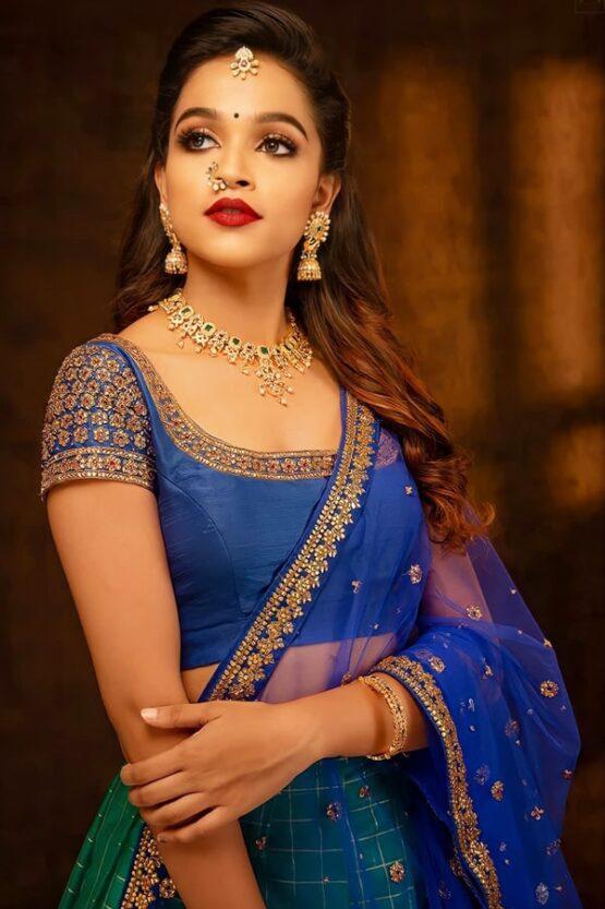new Latest half saree designs 2021